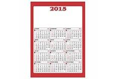 Promocional | Calendario industrial rojo