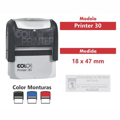 sello automatico printer 30