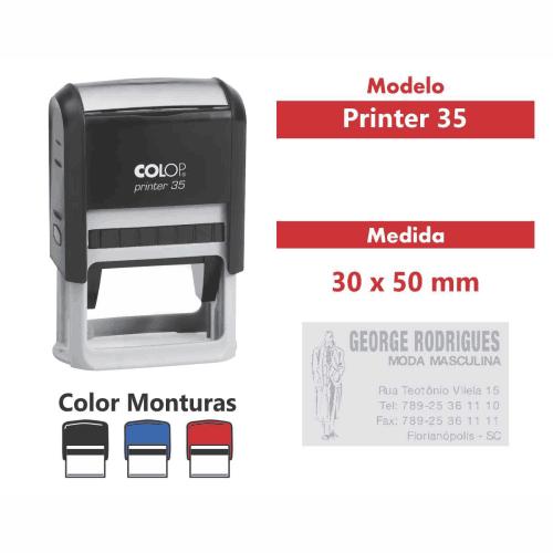 sello automático printer 35