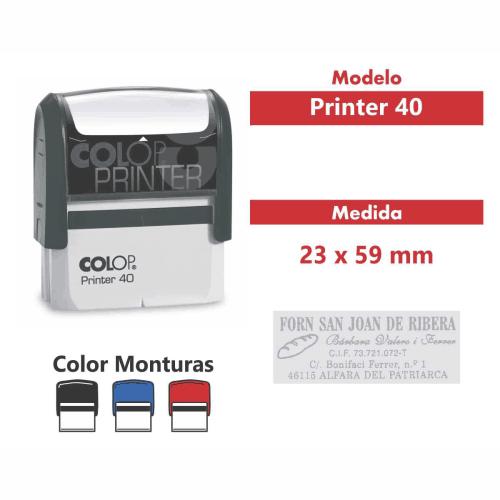 sello automático printer 40