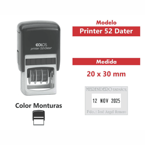 sello automatico printer 52 dater