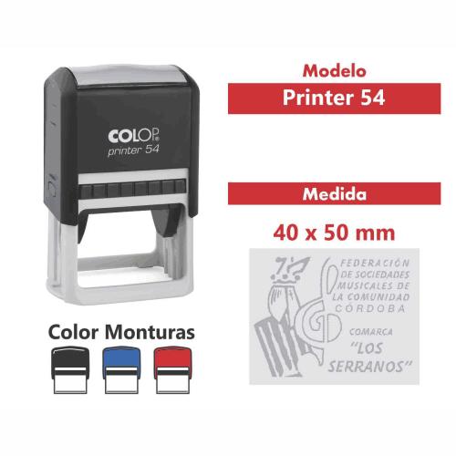 sello automático printer 54