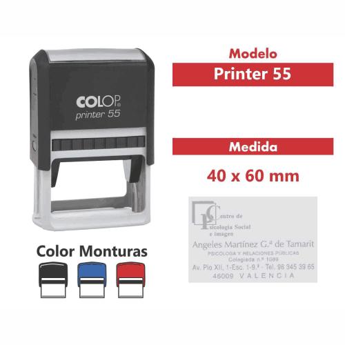 sello automático printer 55