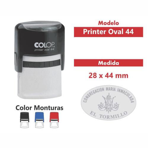 sello automatico printer oval 44