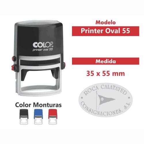 sello automático printer oval 55