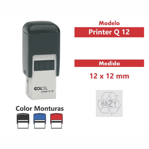sello automatico printer q 12