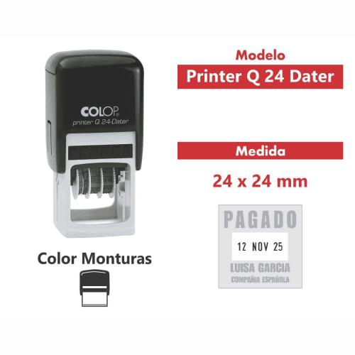sello automático printer q 24 dater
