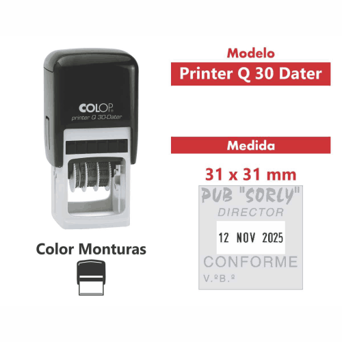sello automático printer q 30 dater