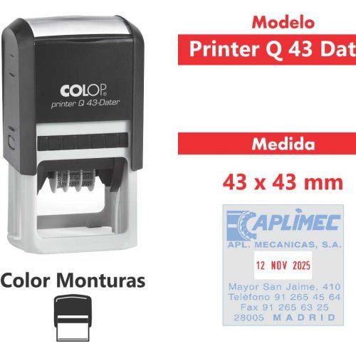 sello-automático-printer-q-43-dater
