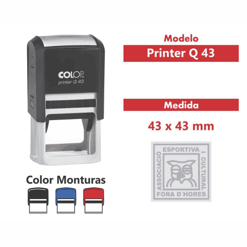 sello automatico printer q 43