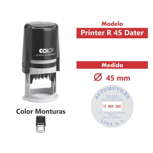 sello automatico printer r 45 dater